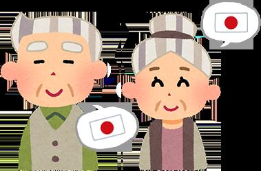 日本語話者のお年寄りのイメージ